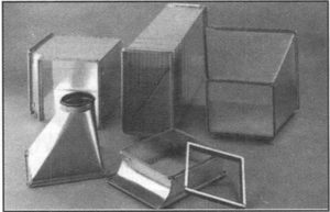 Металлические фасонные части воздуховодов